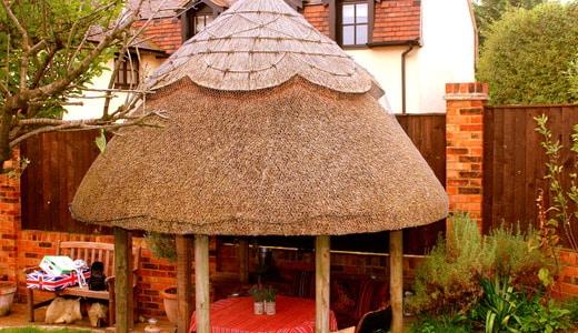 Oak framed thatched Gazebo