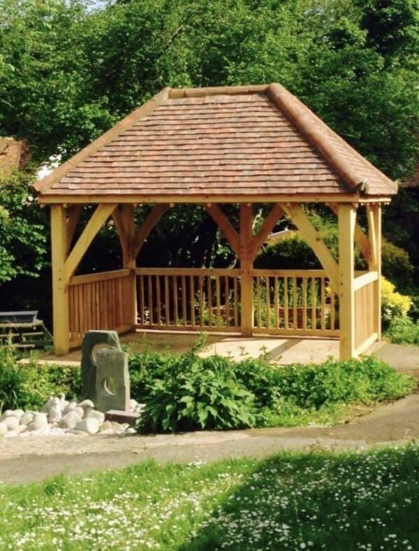 Arden oak framed gazebo 2
