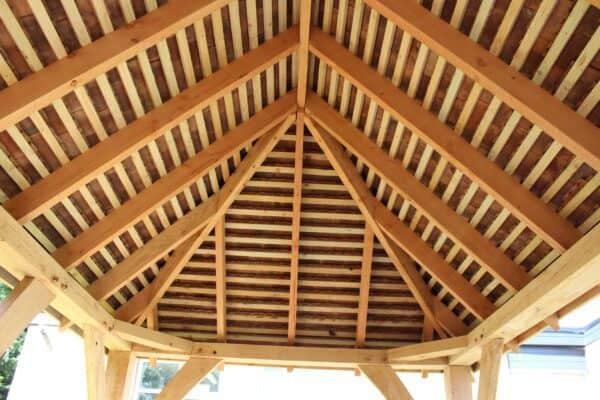 Arden Oak Framed Gazebo roof