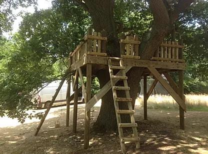 Adventure platform treehouse