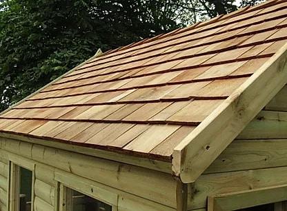 Cedar wood roof