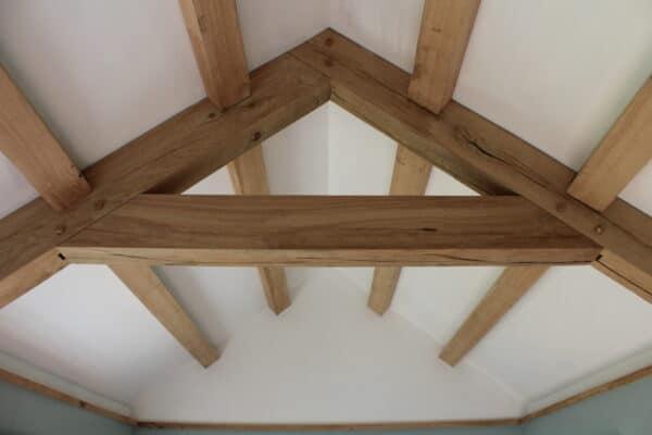 Exposed roof truss